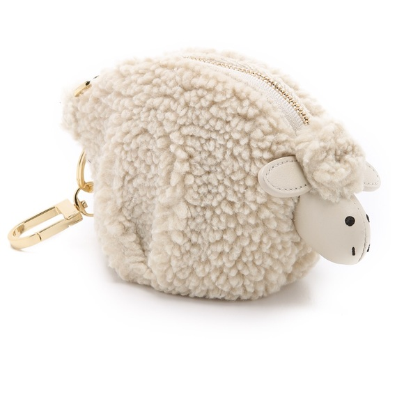 "Tory Burch ""Larry Lamb"" Coin Pouch Keychain e62d280232"